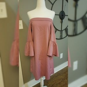 Long sleeve, off the shoulder dress. NWT.